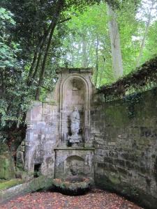 Hidden garden at Chateau La Riviere