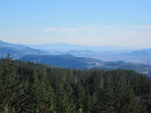 A view of Napa Valley from Howell Mountain
