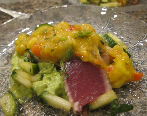 Seared Tuna with Avocado and Mango