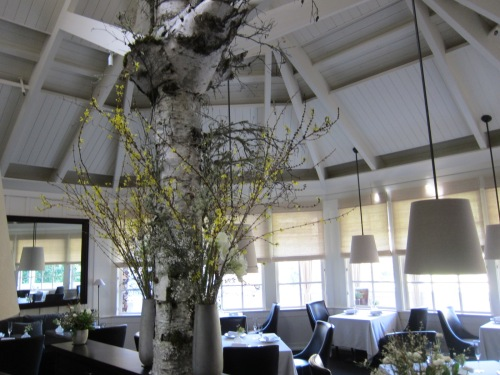 The stunning interior of 3 Michelin star Restaurant at Meadowood