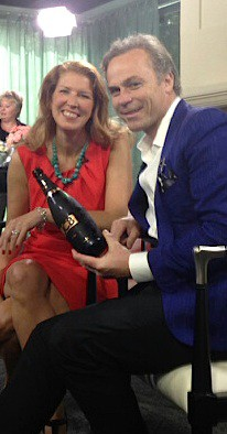 Me with Jean Charles Boisset, of Boisset Collection of Wines, on the set of The Broadcast