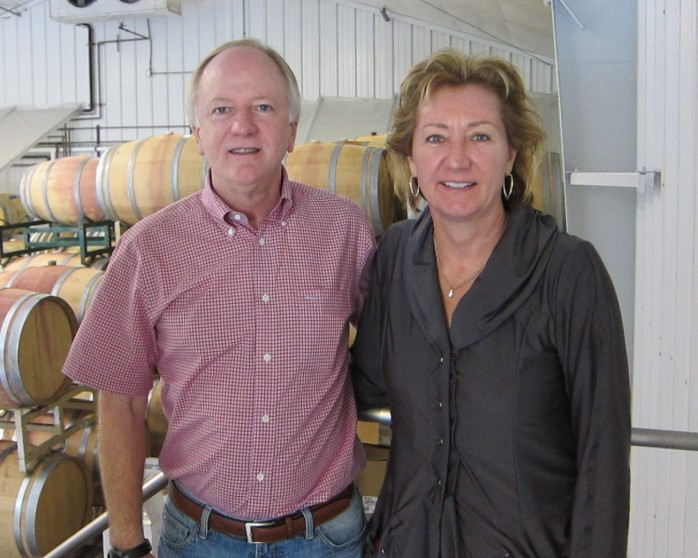 Joel and Amy Aiken at their Palisades Wine Company winery