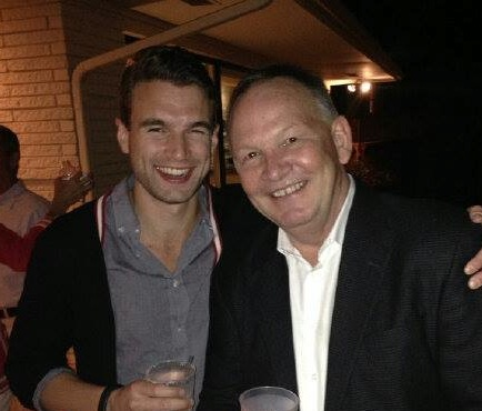 """Gary with """"Believe Me"""" star Alex Russell."""