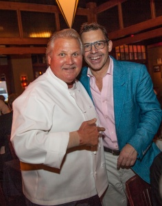Chef Savy (left) with Chef, John Tesar