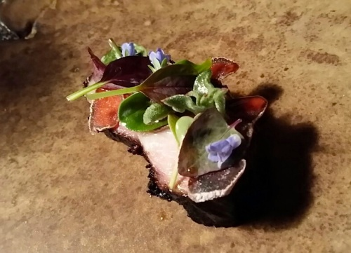 Pork Belly with Garden Flowers