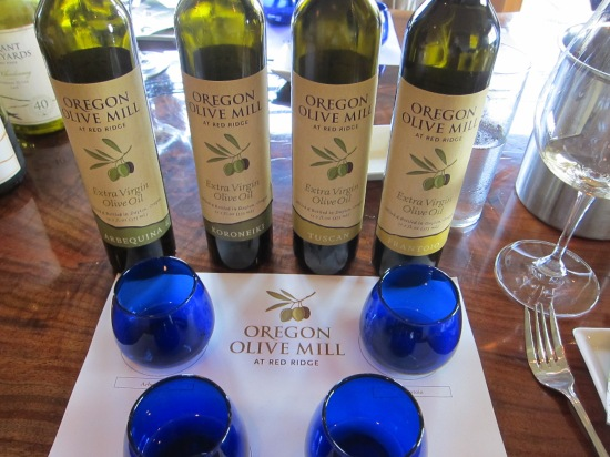 Blue Glass Olive Oil tasting at Red Ridge Farms