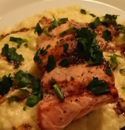 maple bourbon salmon