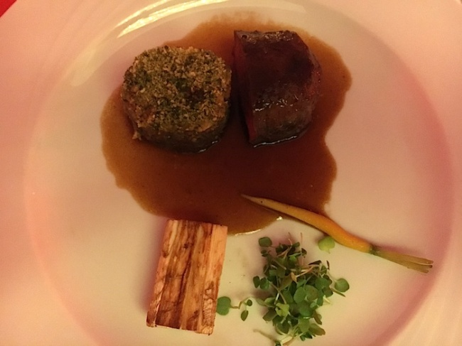 "Chef Hubert Keller's dish at the ""Hot Lava, Hotter Cuisine"" event"